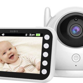 Qubis Video Babyfoon - Babyfoon met Camera en Baby Monitor - 4.3 Inch - HD Kleur LCD Display - Terugspreekfunctie - Nachtzicht - Veilige Verbinding - Kamertemperatuur - Slaapliedjes - Voedingsreminder