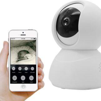 Slimme WiFi Babyfoon - Babyfoon met Camera en App - iOS en Android - Full HD, Nachtzicht, Tweezijdige communicatie, bewegingssensor