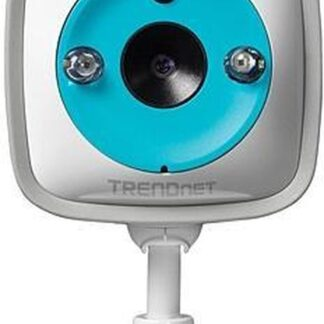 "Trendnet IP-camera's WiFi HD Baby Cam, 1/4"" CMOS, f=1.4 mm, F2.4, 4x Digital Zoom, IR LEds (7.5m Max), 2-Way Audio, MicroSD, w/Thermometer"