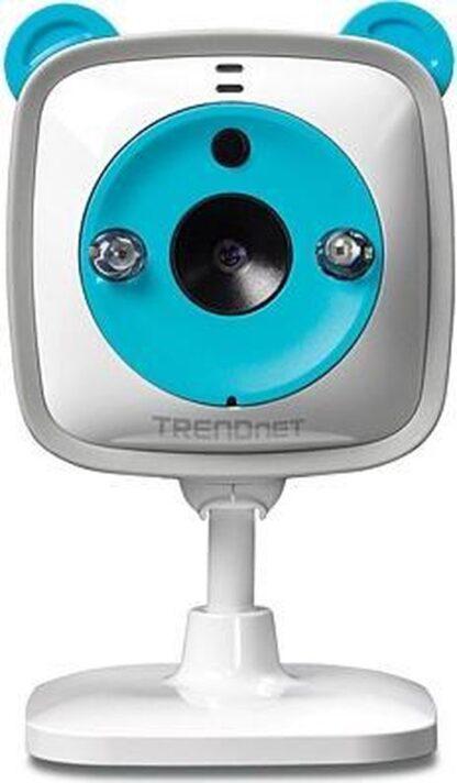 "Trendnet IP-camera's WiFi HD Baby Cam, 1/4"" CMOS, f=1.4 mm, F2.4, 4x Digital Zoom, IR LEds (7.5m Max), 2-Way Audio, MicroSD, w/Thermometer"
