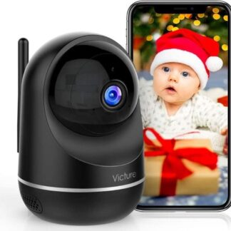 Victure Dualband 2,4 GHz en 5 GHz wifi-camera, babycamera, 1080p bewakingscamera WLAN, babyfoon met camera, pantilt, 2-weg audio, IR-nachtzicht