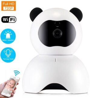 WIFI IP Beveiligingscamera | 720P 30FPS Bewegingsdetectie Nachtzicht 355°/120° Wijde Hoek Gratis APP Babyfoon | Wit