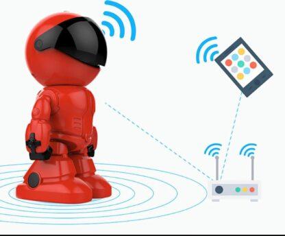 Ampand -WIFI IP- Home Security camera, intelligente robot Draadloze - Babyfoon - camera Indoor bewakingscamera met nachtzicht Bewegingsdetectie 2-weg audio Home beveiligingssysteem - Inc. SD-kaart 32G