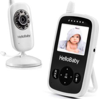 HelloBaby HB24 Babyfoon met camera - Nachtzicht - Terugspreekfunctie - Temperatuurcontrole - Slaapliedjes - Zoomfunctie