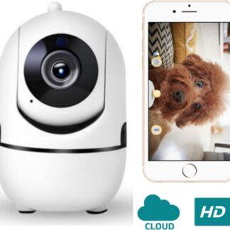 LIVATO - HD Wifi Babyfoon met Camera - Huisdiercamera - Camera Beveiliging - 1080P - Geluid en Bewegingsdetectie - Wit