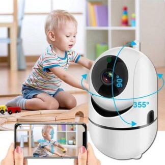 Video camera 1080P (Full-HD) Smart camera automatische -Beveiligingscamera - Babyfoon - WIFI draadloos - Nachtzicht - Babymonitor - Indoor - Camera Smart Automatische - Full HD Intercom Voor Home Security - Incl. 32G